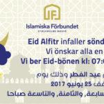 Eid Alfir infaller söndagen den 25:e juni